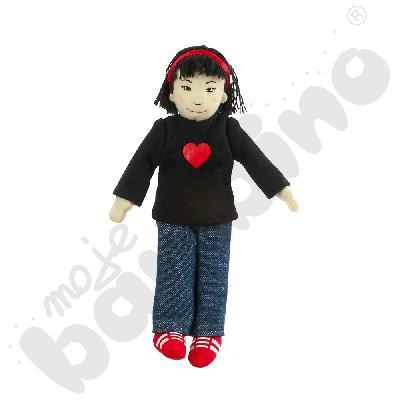 Dziewczynka - azjatycka rodzinka