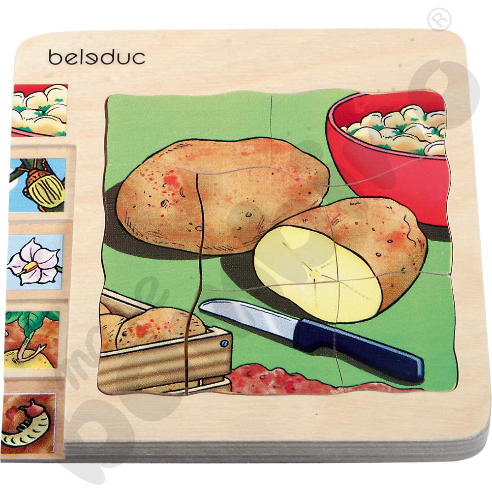 Edukacyjne puzzle warstwowe - ziemniaki