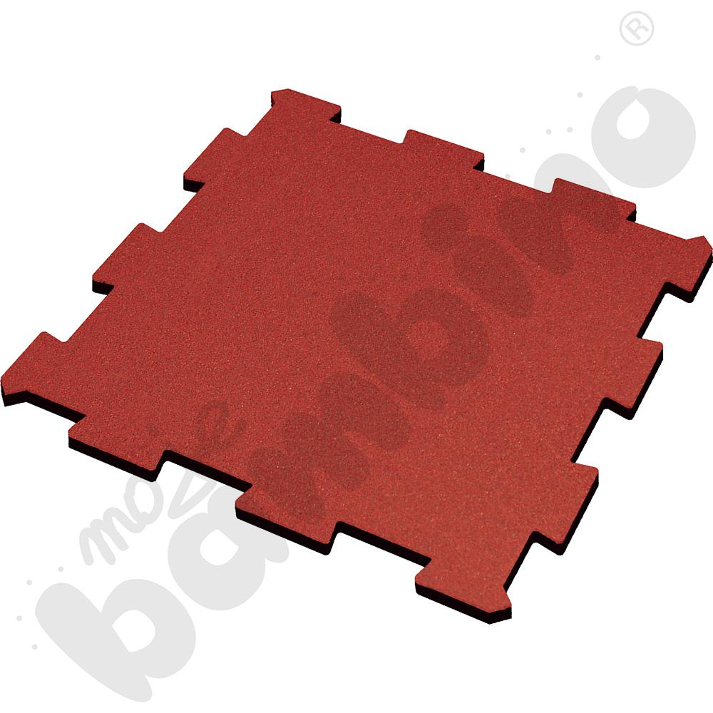 Nawierzchnia bezpieczna syntetyczna - puzzel SBR, 50 mm, czerwona, 1 szt.