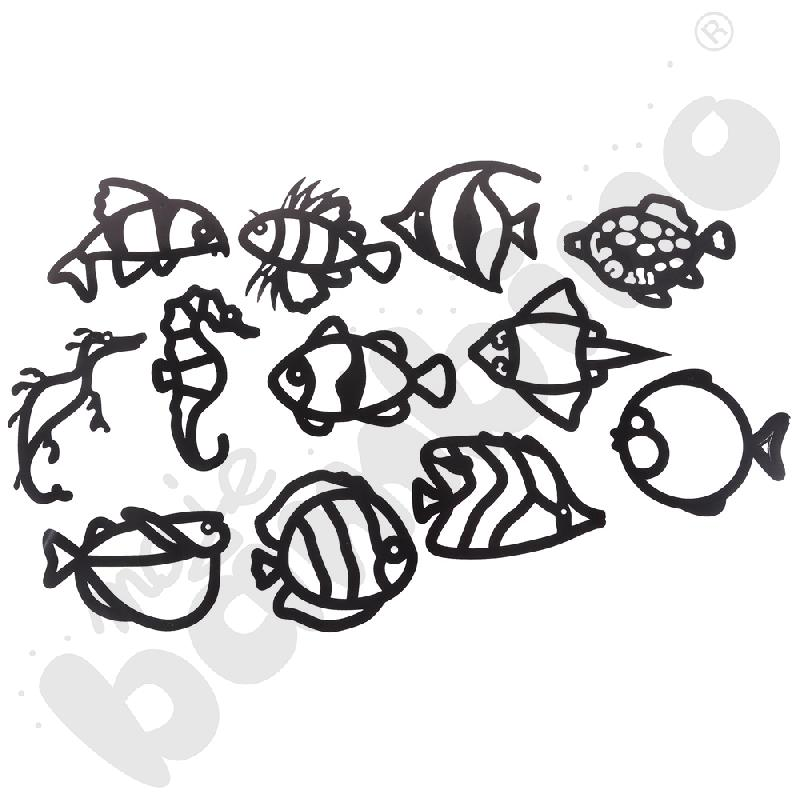 Witraże - tropikalne ryby