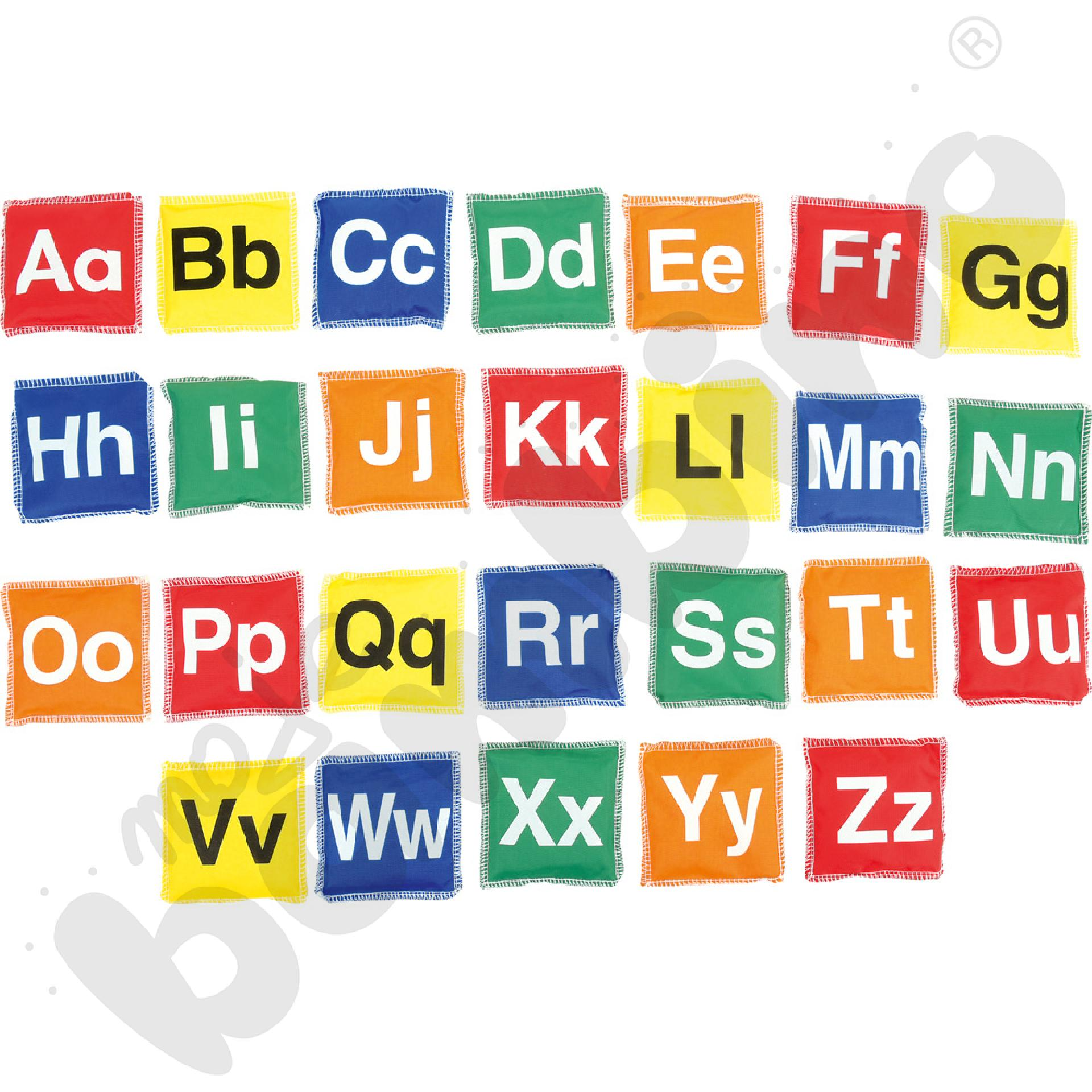 Woreczki z grochem - alfabet