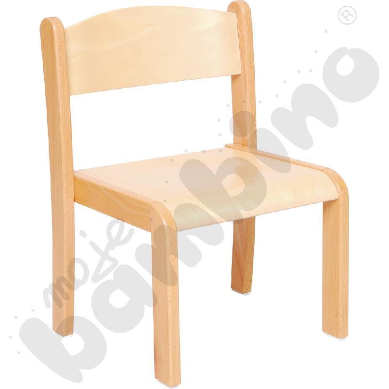 Krzesło Filipek bukowe ze stopką filcową rozm. 2