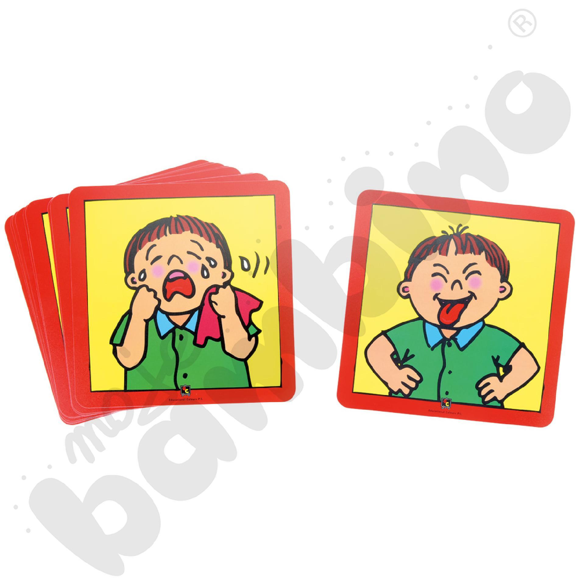 Emocje - zestaw kart
