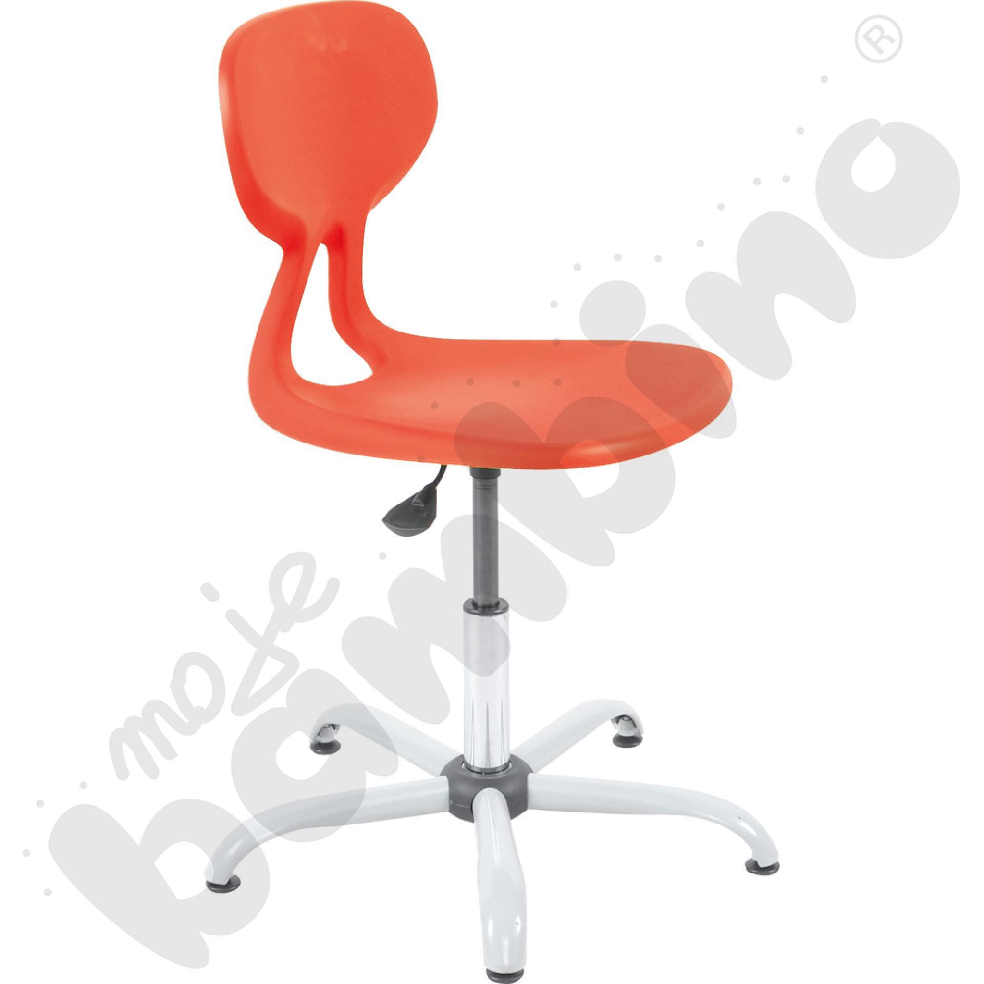 Krzesło Colores obrotowe z reg.  wys. czerwone