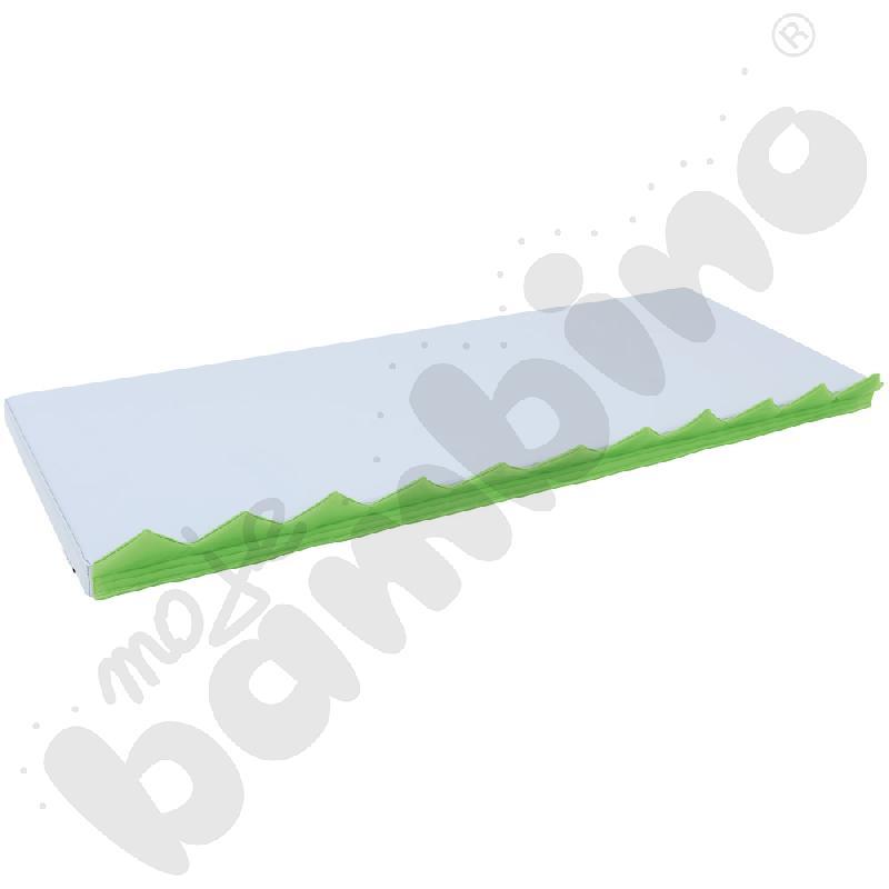 Materac prostokątny z motywem trawy - szary