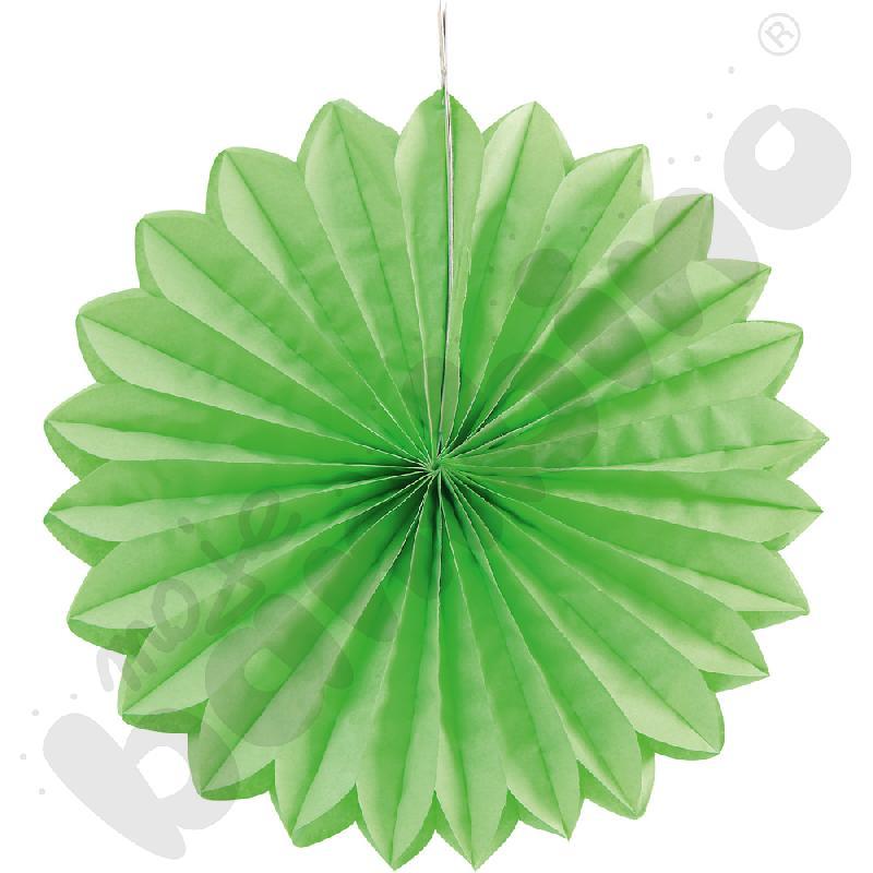 Papierowy wachlarz - zielony