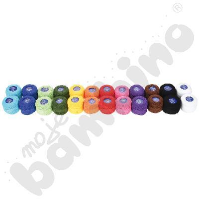 Kolorowe kordonki, 24 szt.