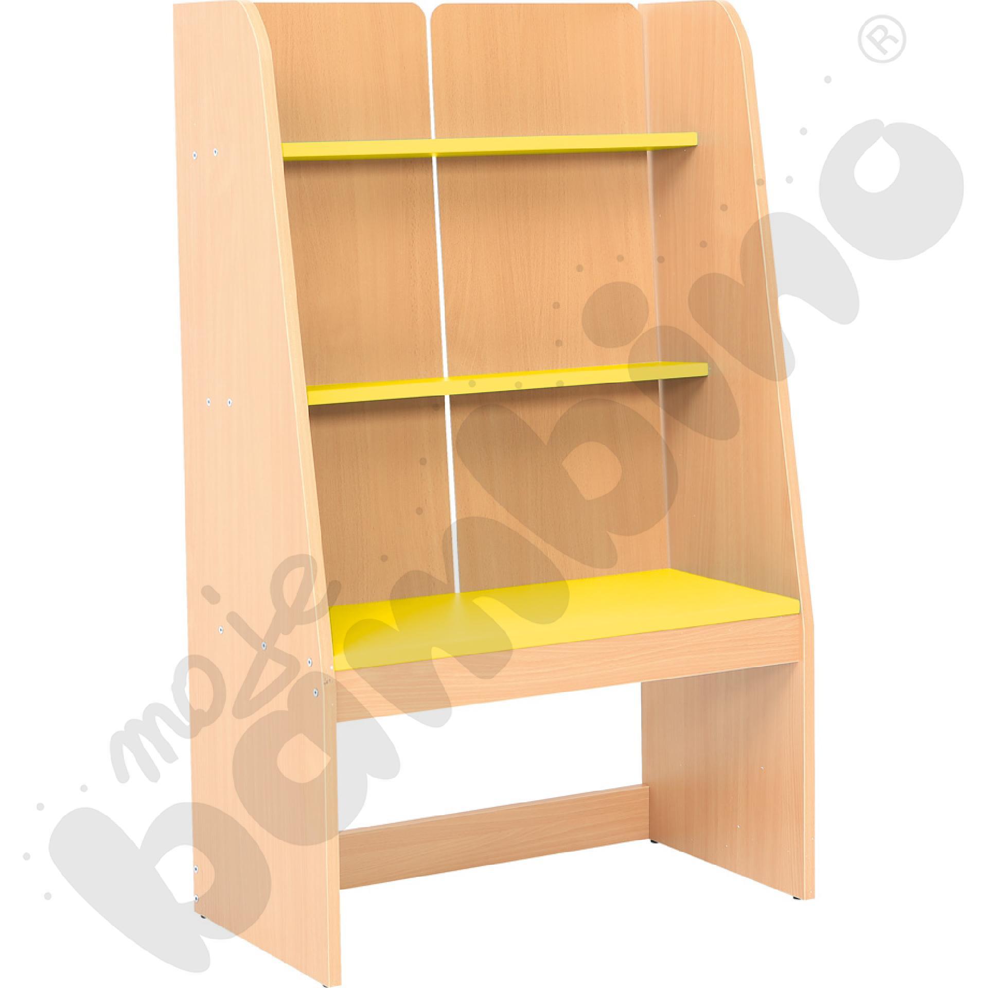 Biblioteczka stojąca żółta