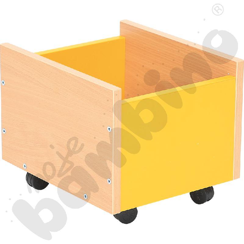 Pojemnik na kółkach żółty