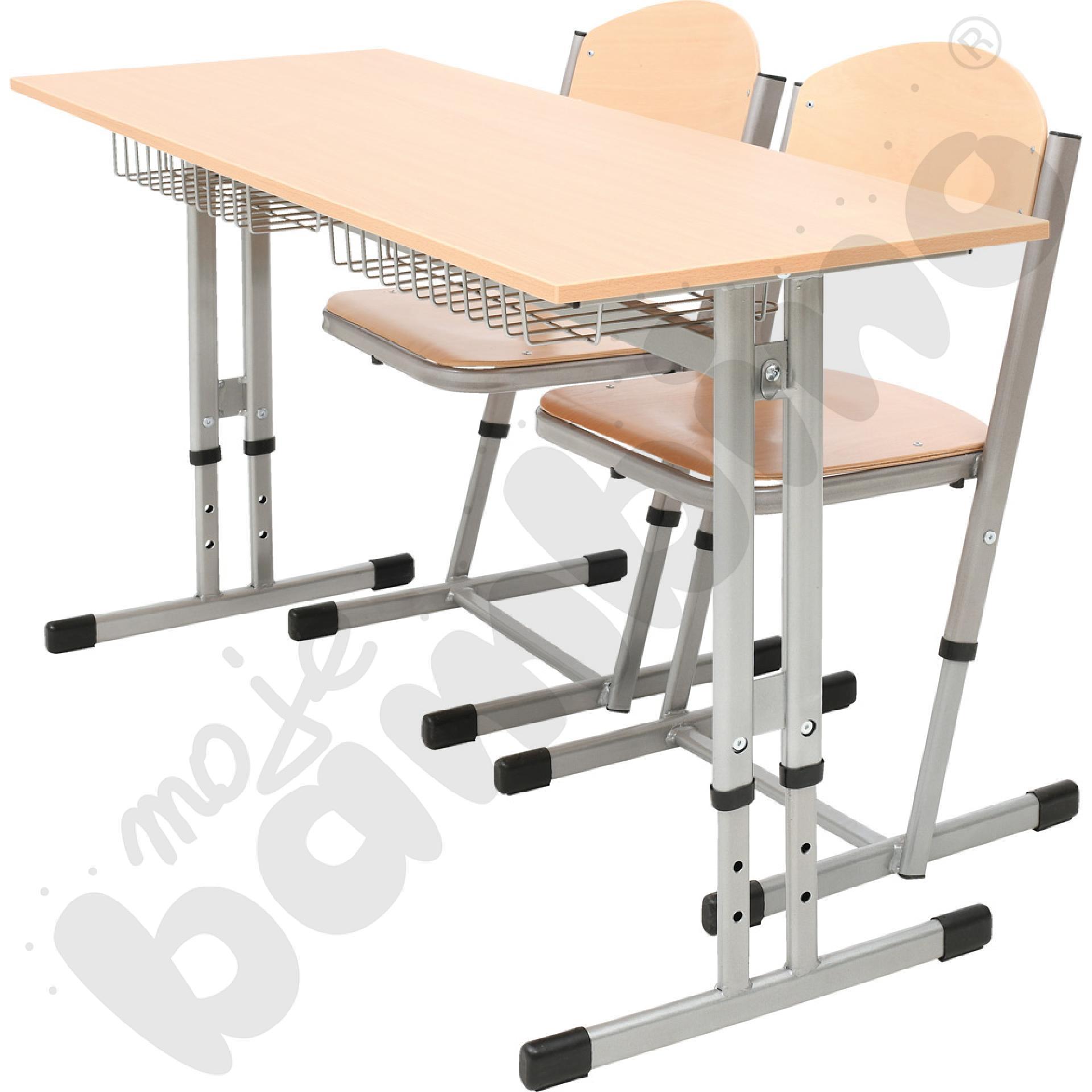 Stół IN-R 2-os. z koszykami i 2 krzesłami T wzmocnionymi