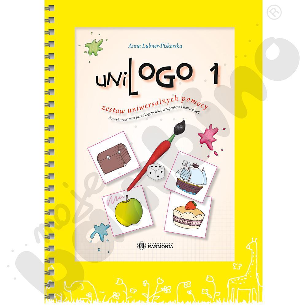 UniLOGO 1. Zestaw uniwersalnych pomocy do wykorzystania przez logopedów, terapeutów i nauczycieli - teczka z ilustracjami.