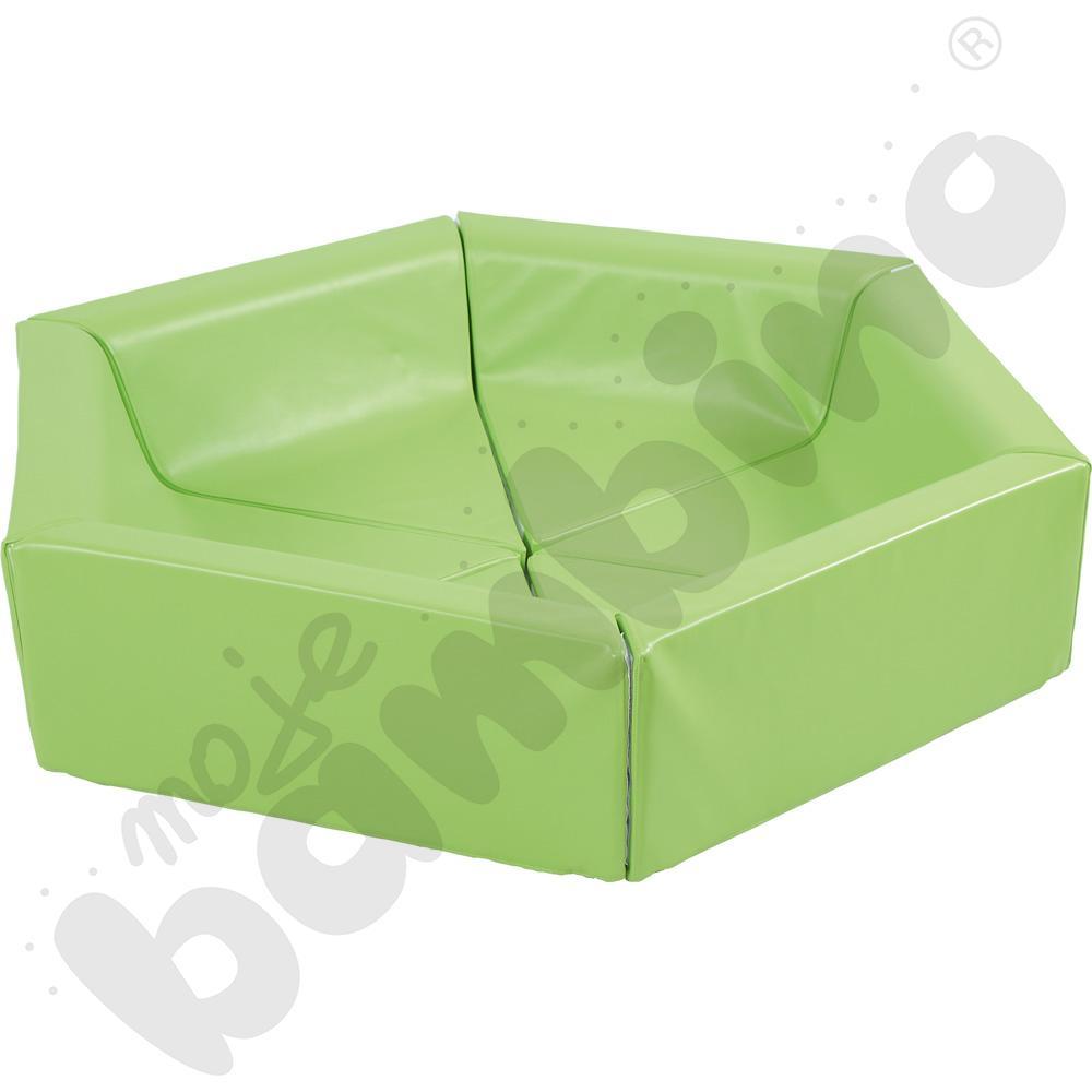 Piankowy kojec zielony - kształtki rehabilitacyjne