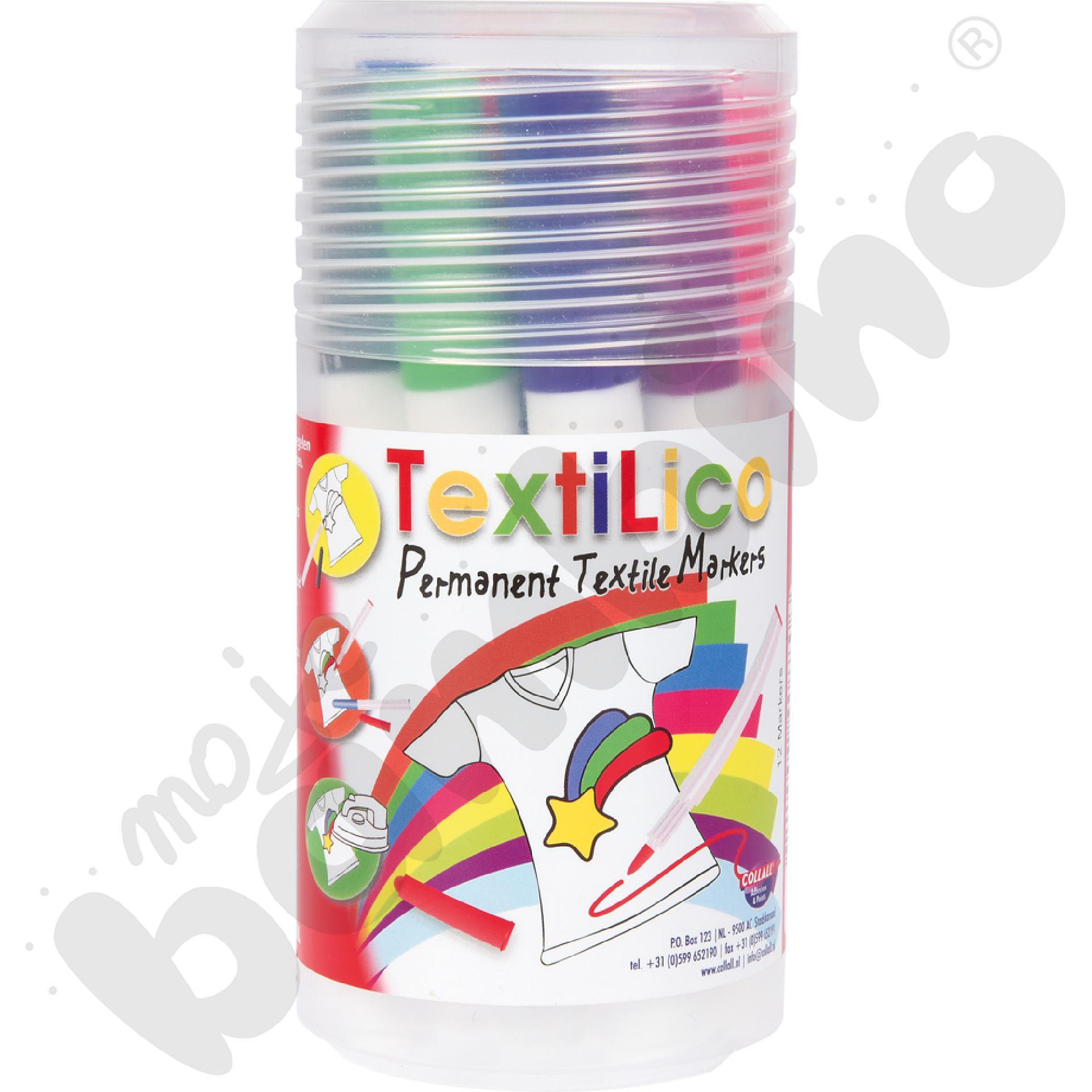 Markery do tkanin 12 kolorów