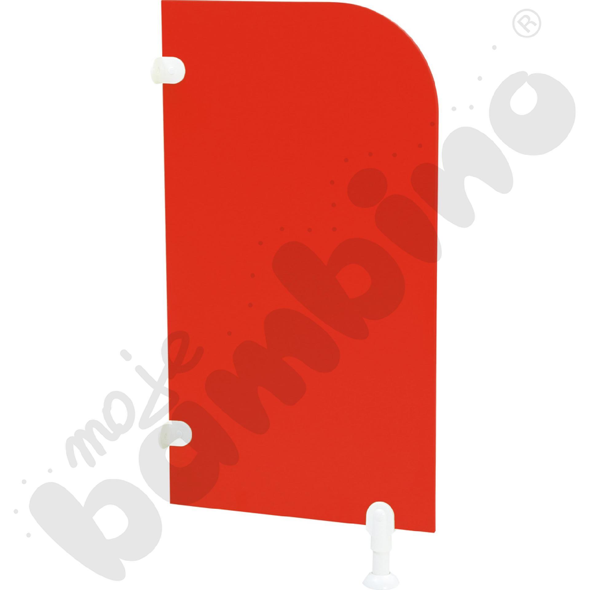 Ścianka działowa do WC - czerwona