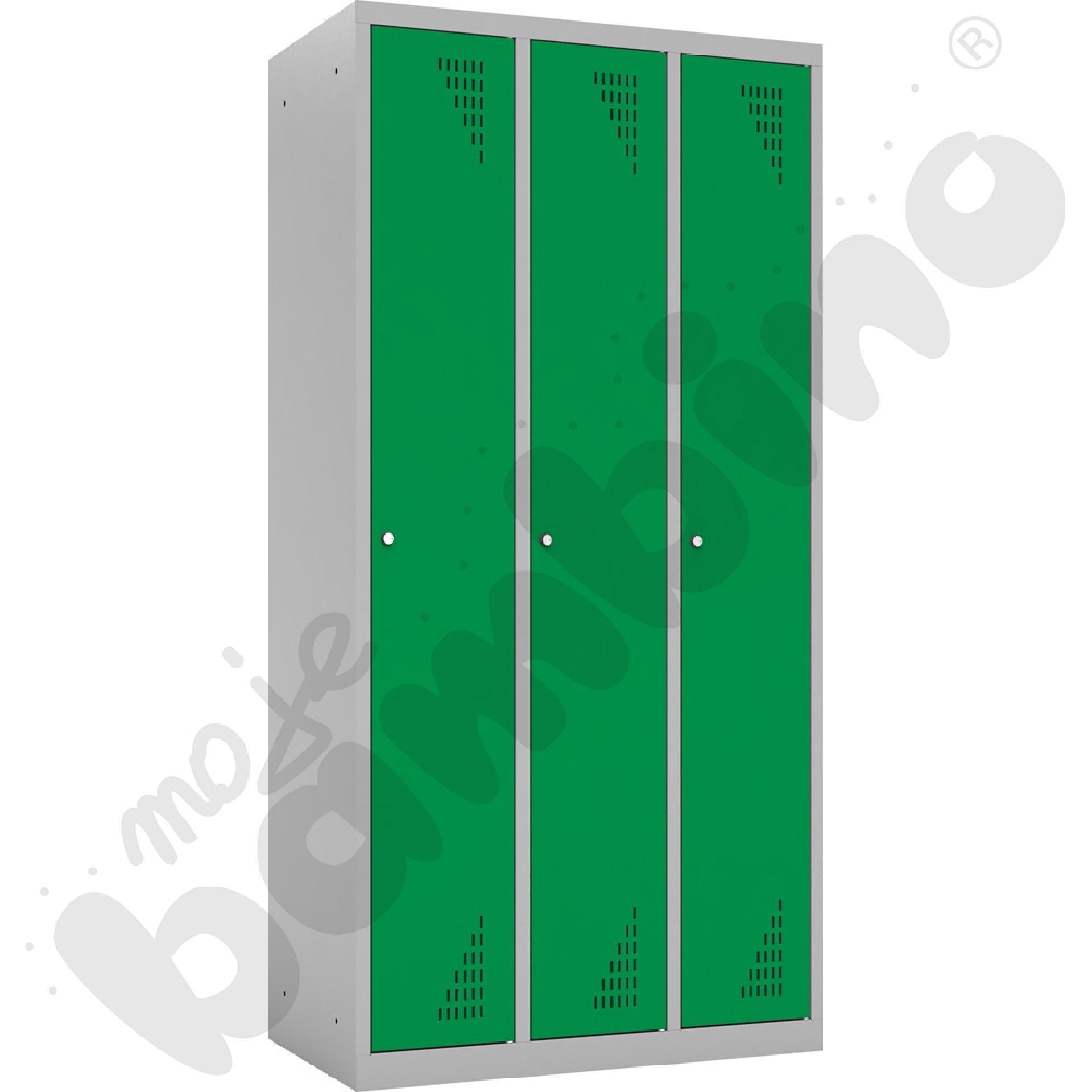Szafa ubraniowa 3-modułowa drzwi zielone