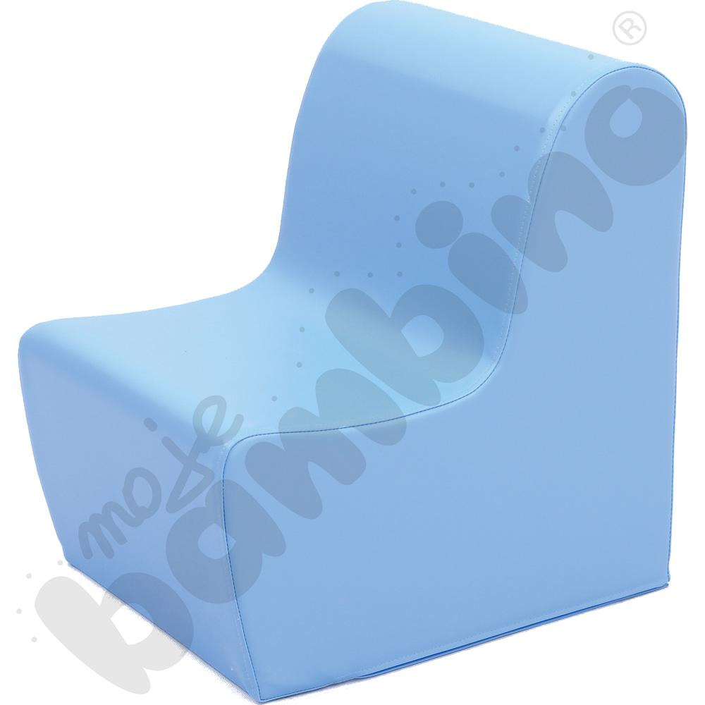 Duży fotelik jasnoniebieski