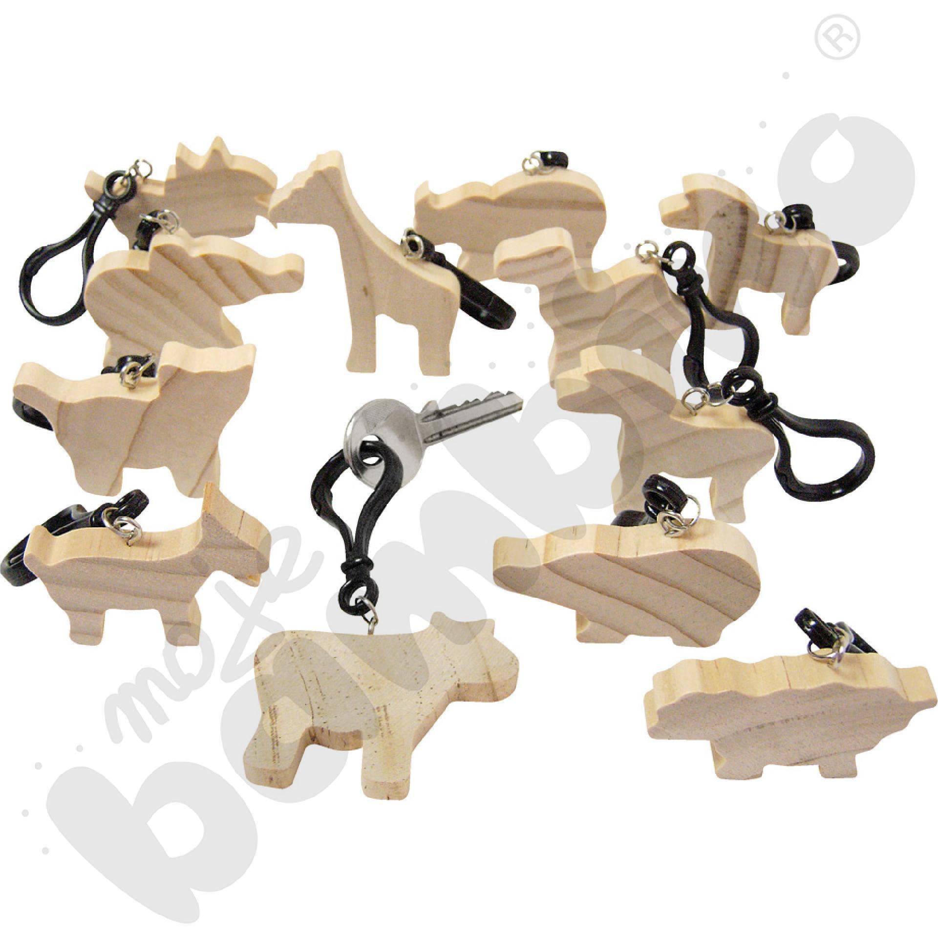 Drewniane breloczki - zwierzątka