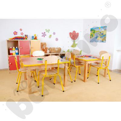 Krzesło Bambino rozm. 2 żółte