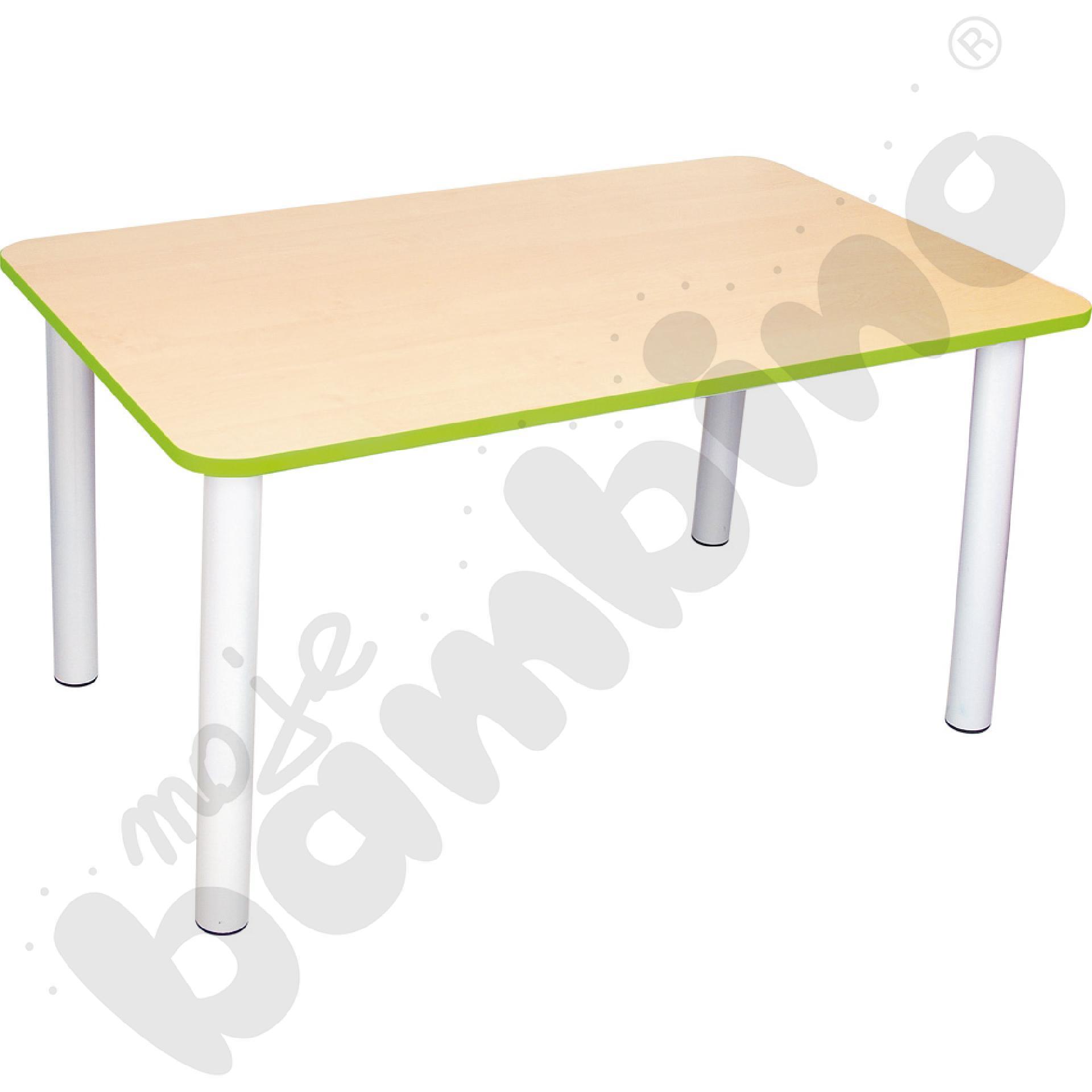 Blat do stołu Premium z zielonym obrzeżem