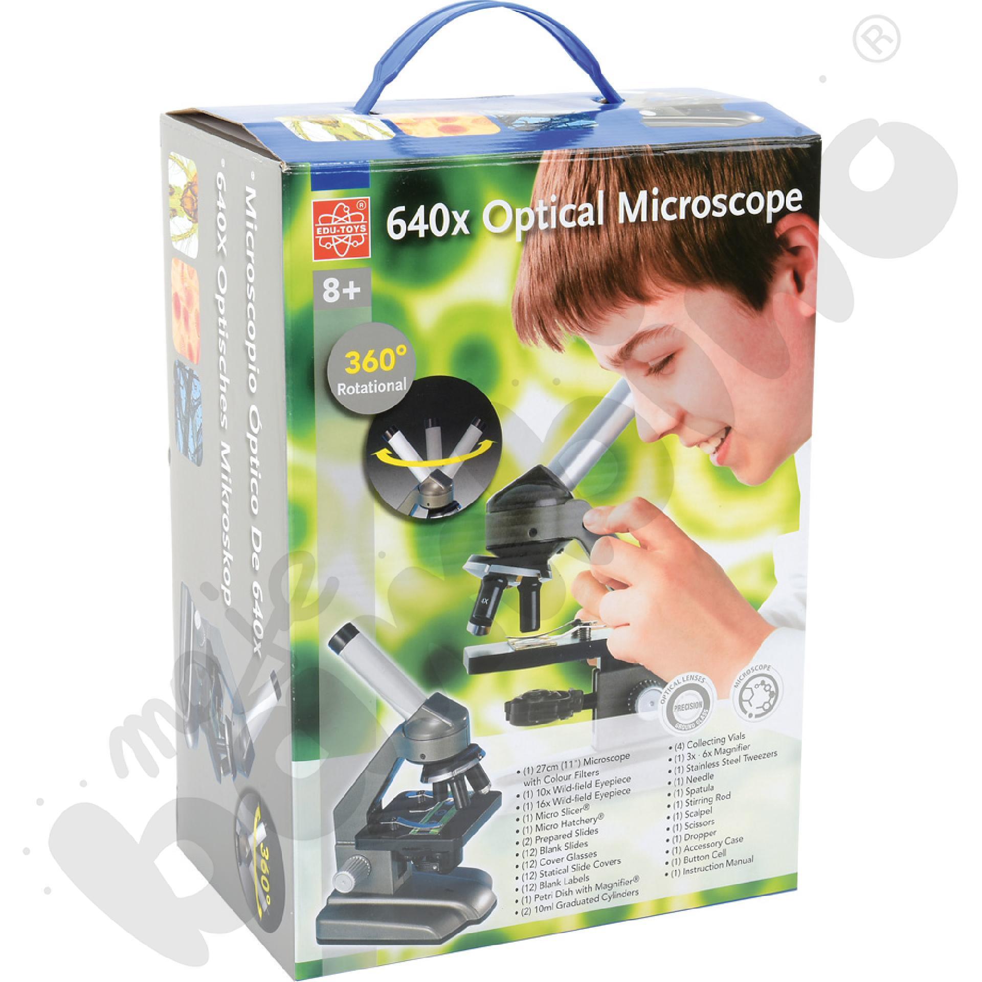 Mikroskop optyczny z zestawem do badań