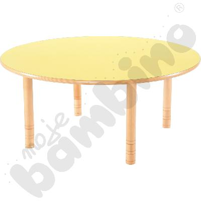 Stół Flexi okrągły - żółty