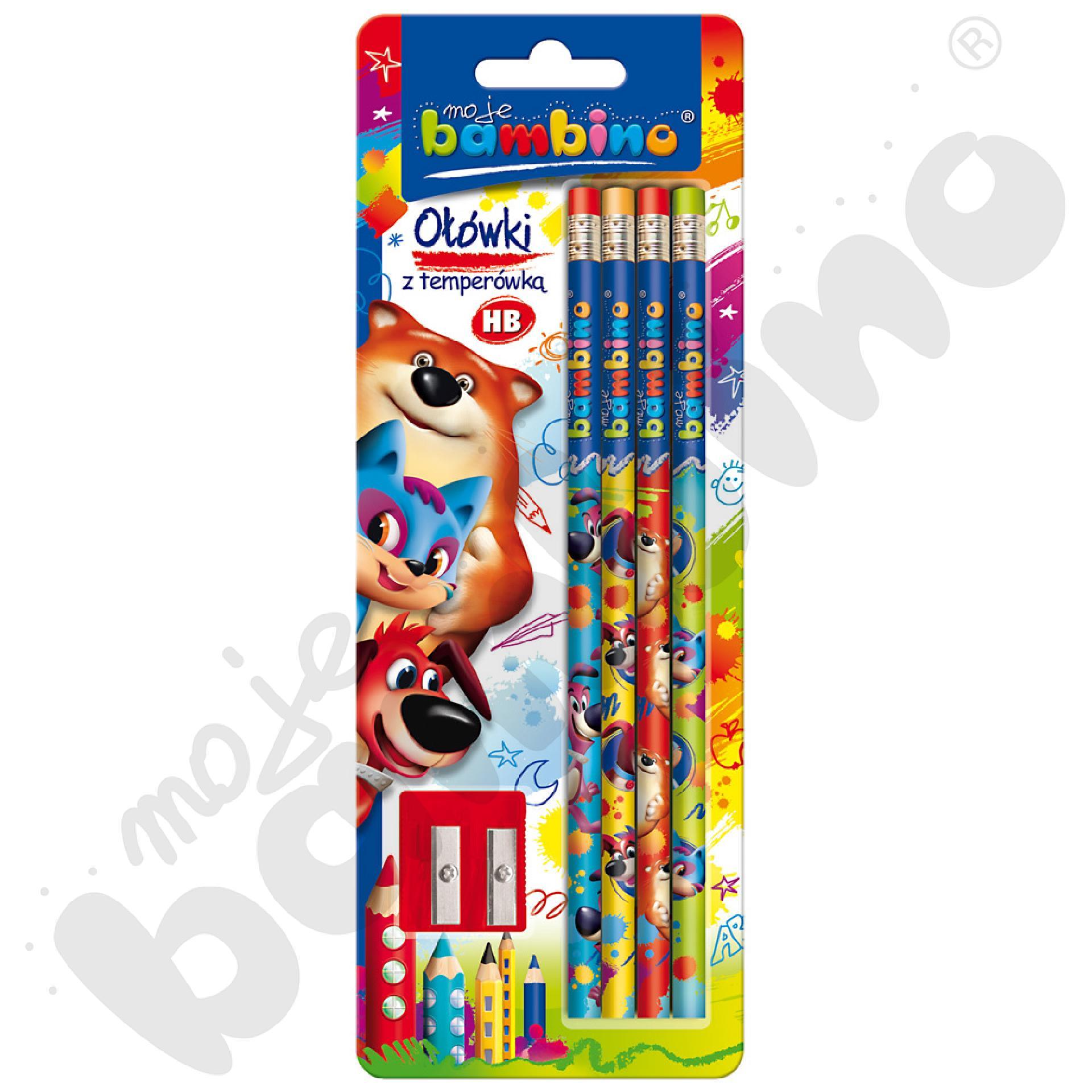 4 ołówki z temperówką