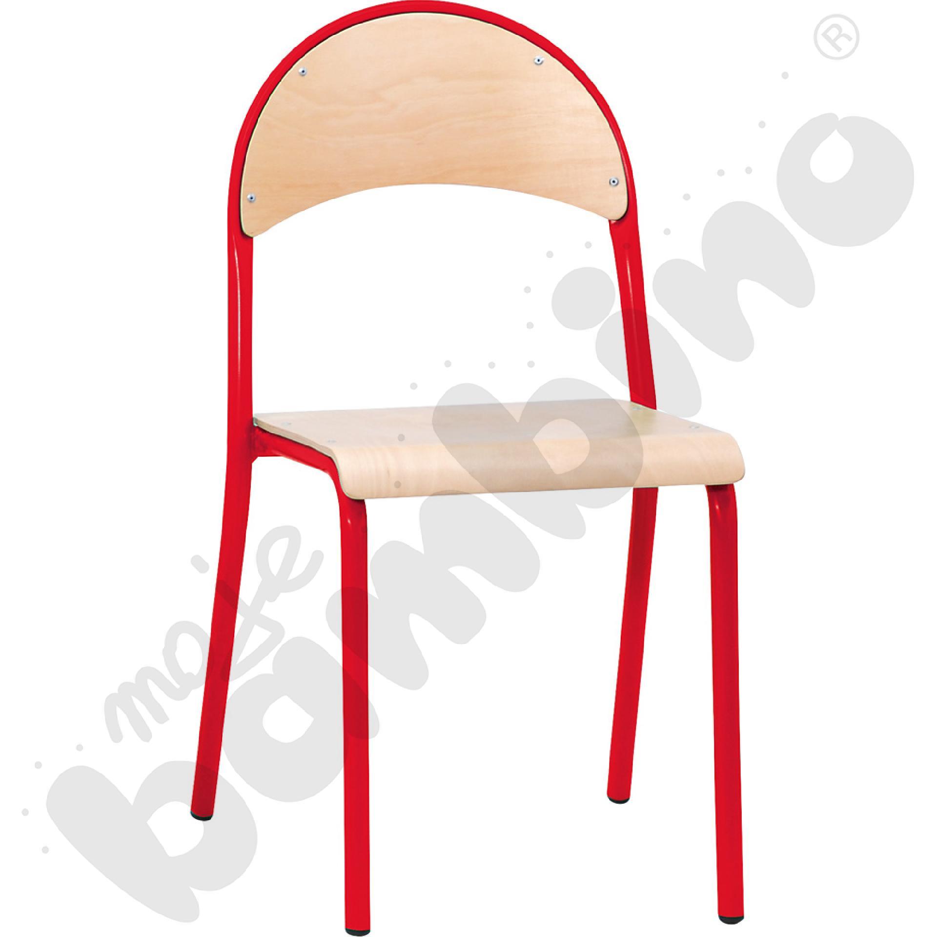Krzesło P rozm.  6 czerwone