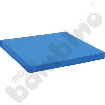 Materac antypoślizgowy wym. 90 x 90 x 8 cm niebieski