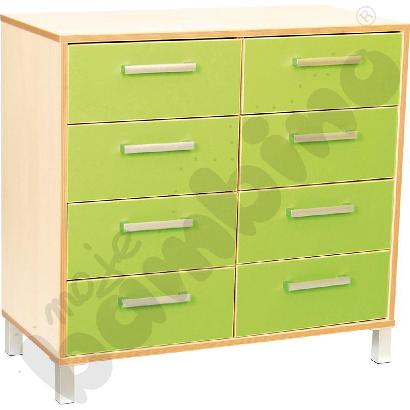 Szafka z szufladami Premium duo - zielona
