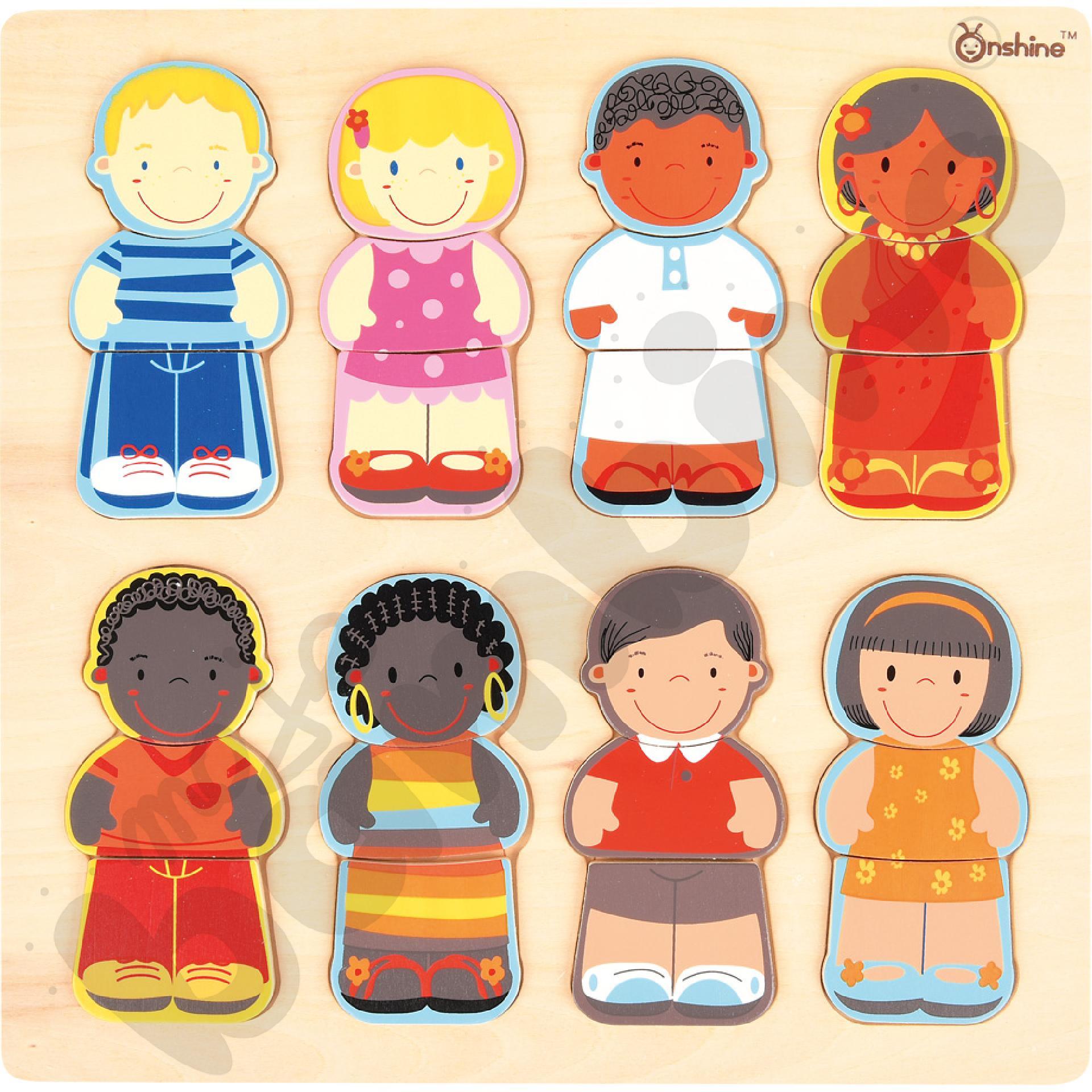 Układanka - dzieci świata