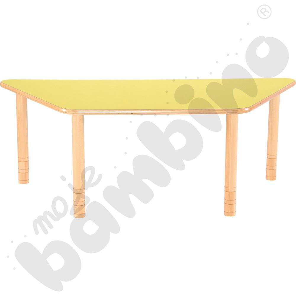 Stół Flexi trapezowy- żółty