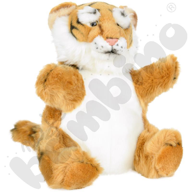 Pluszowa pacynka - tygrys