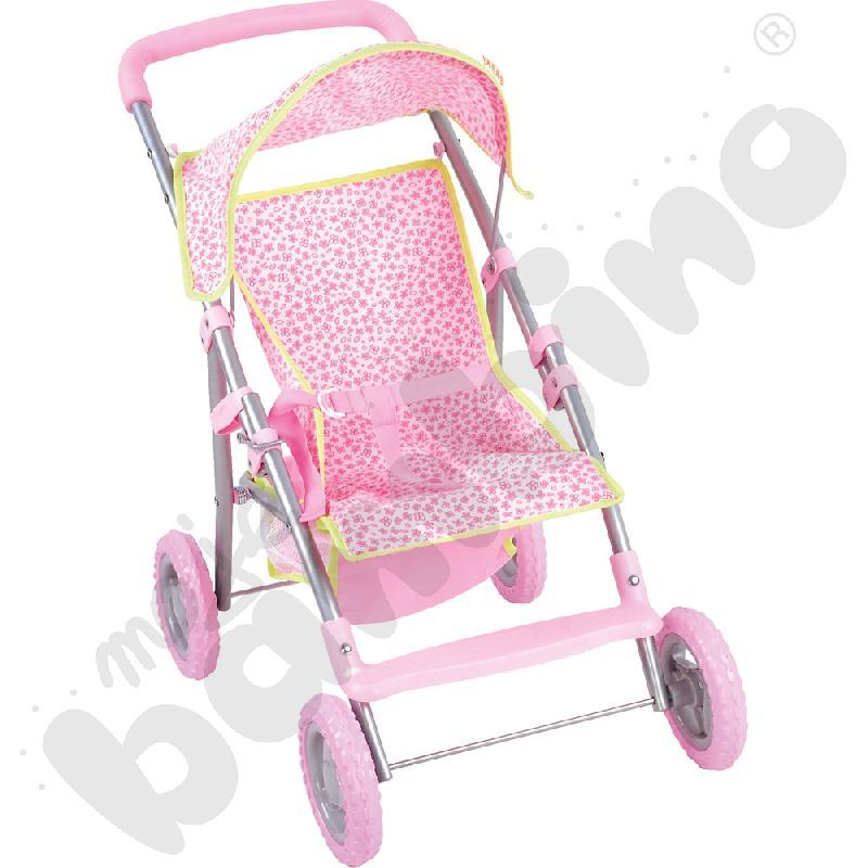 Wózek spacerowy z podnóżkiem