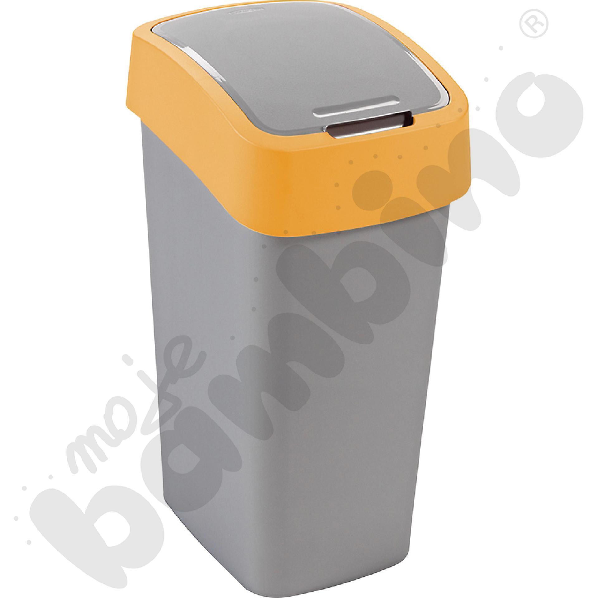 Kosz na śmieci Flip - żółty