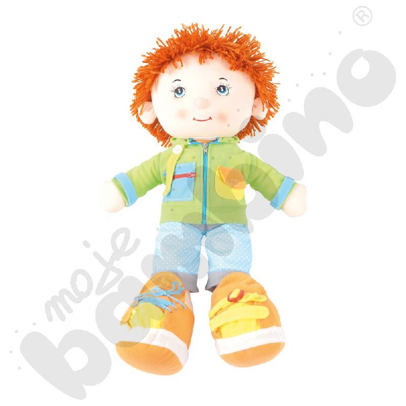 Lalka - chłopiec z ubrankami
