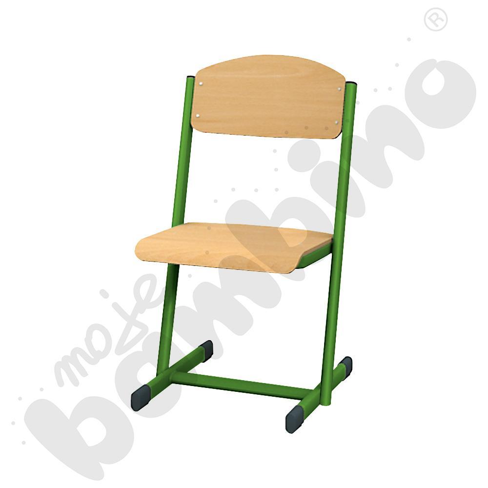 T krzesło nr 6 - zielony - buk