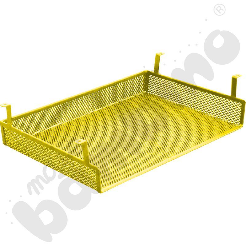 Półka metalowa do stołów, do zamocowania pod blatem - żółta