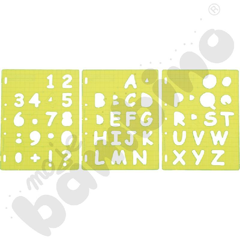 Szablony do wycinania - litery i cyfry