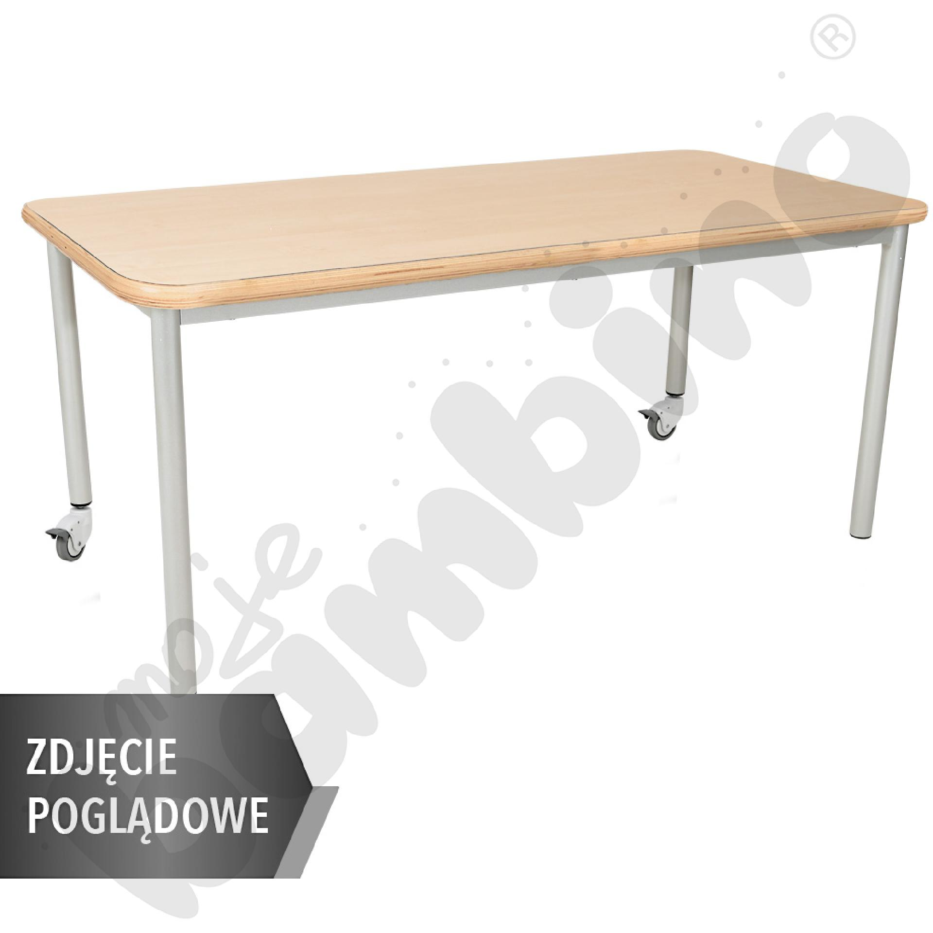 Stół Mila prostokątny, 140 x 70 cm, rozm. 1 - buk