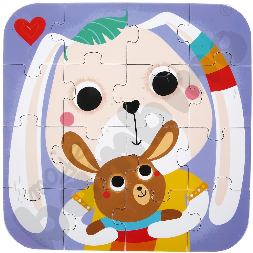 Mini puzzle Zajączki
