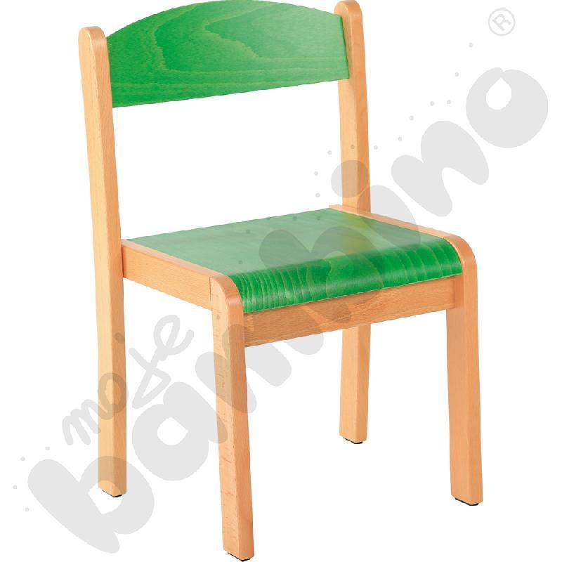 Krzesło Filipek zielone ze stopką filcową rozm. 1