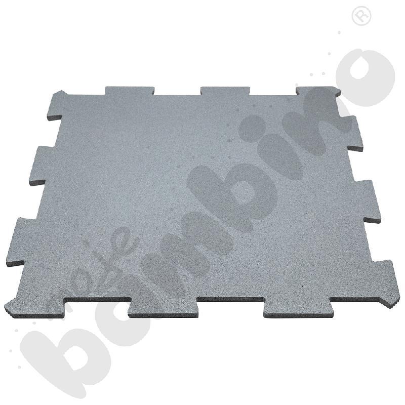 Nawierzchnia bezpieczna syntetyczna - puzzel SBR, 50 mm, szara, 1 szt.