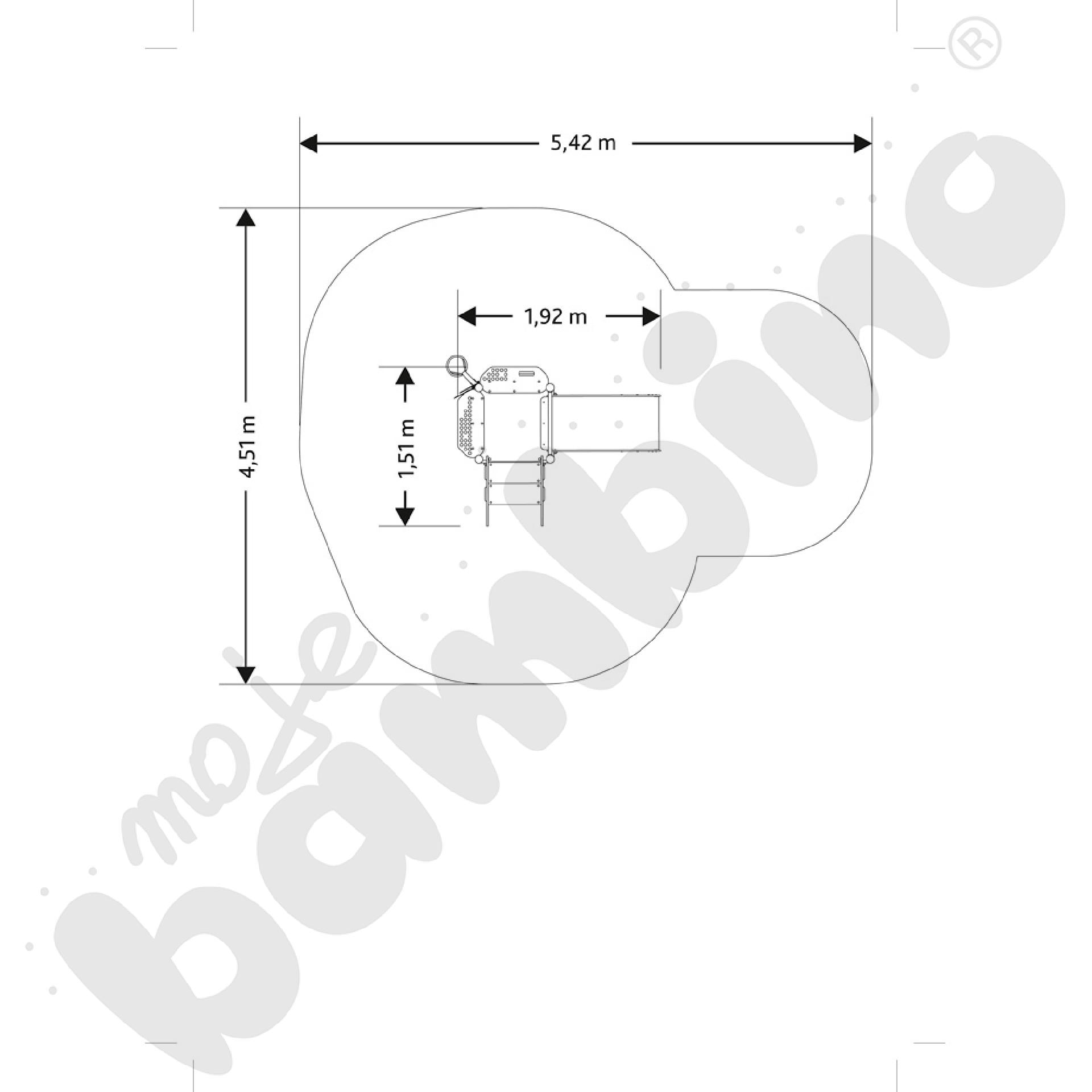 Wieża bocianie gniazdo insGraf- fioletowa