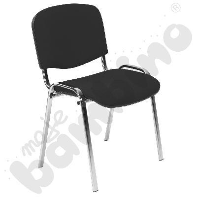 Krzesło konferencyjne ISO Chrom czarne