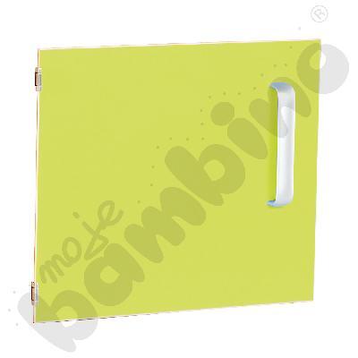 Drzwiczki do szafki M z przegrodą lewe - limonkowe