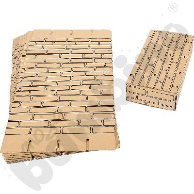 Kartonowe cegły dla dzieci