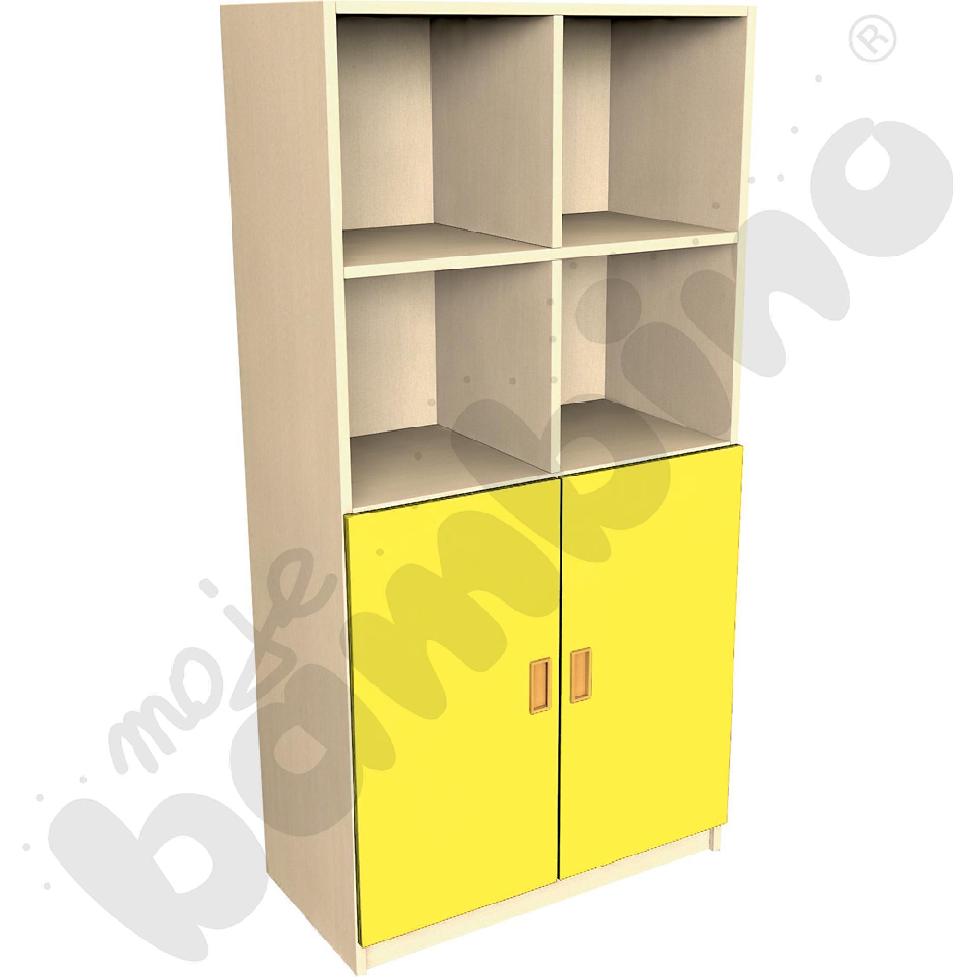 Drzwi duże do regału - żółte