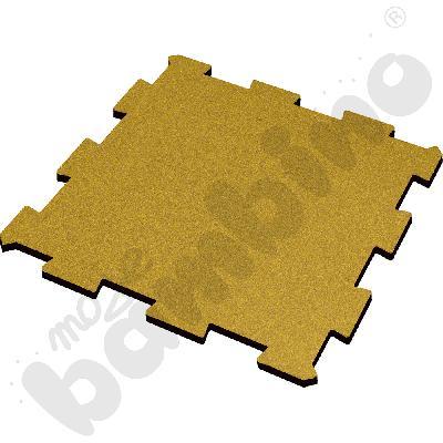 Nawierzchnia bezpieczna syntetyczna - puzzel SBR, 50 mm, żółta, 1 szt.