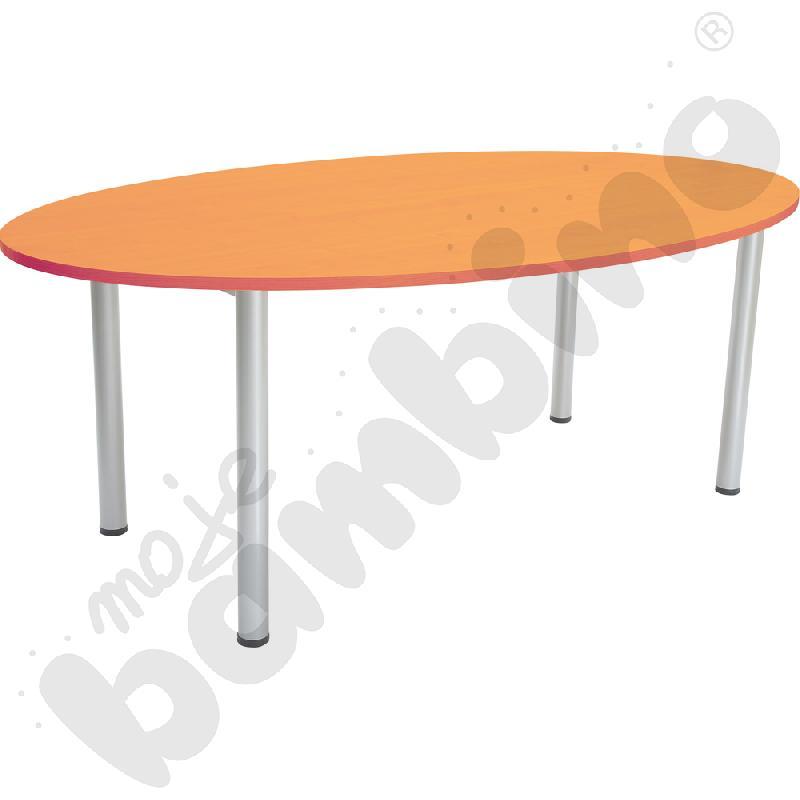 Stół owalny 120 x 200 cm olcha