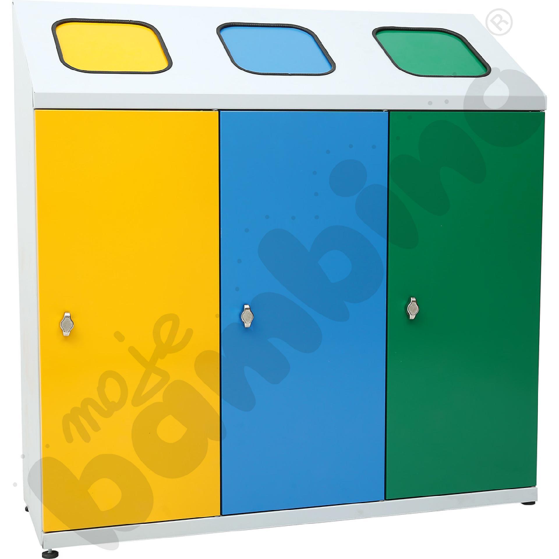 Pojemnik do segregowania odpadów 3-komorowy